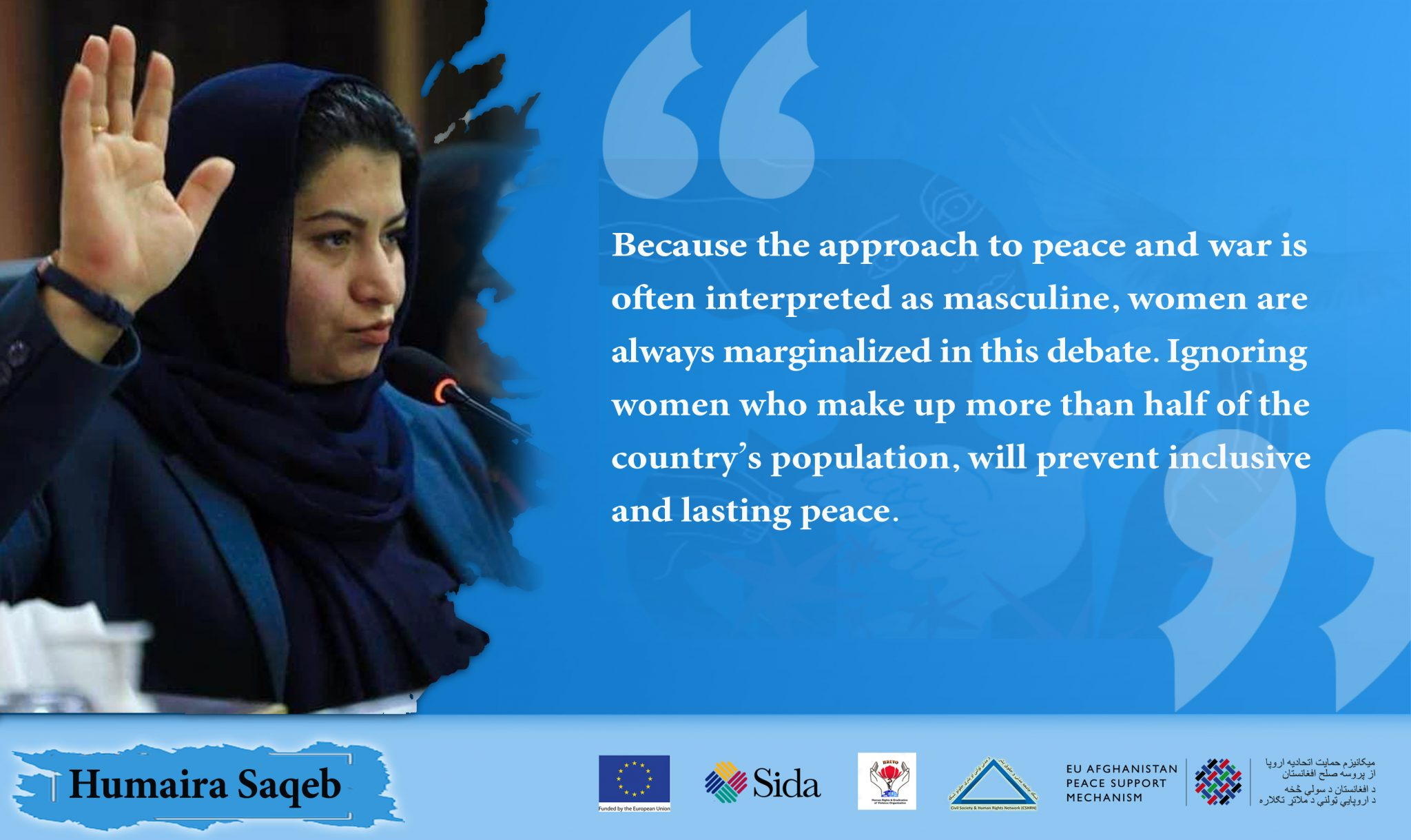 The Absence of Civil Society Representatives in the Peace Talks Will Adversely Affect Women
